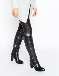 Tommy Hilfiger Tommyxgigi Nautical Over The Knee Heeled Boots Black
