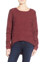 Jag Jeans Boat Neck Drop Tail Sweater Petite Red
