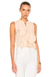 Chloe Crepe De Chine Sleeveless Blouse In Neutrals Pink Neutrals Pink