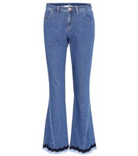 See By Chloe Cropped Flare Jeans Blue