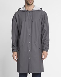 Rains Grey Long Raincoat