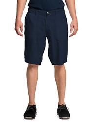 Original Paperbacks Casual Linen Shorts Navy