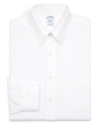 Brooks Brothers Basic Solid Regular Fit Dress Shirt