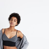Madewell Cami Crop Tank Heather Metal