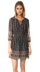 Madewell Lace Up Border Dress Classic Black