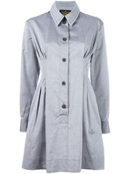 Vivienne Westwood Anglomania Pleated Detail Shirt Dress Grey