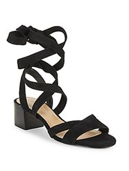 Saks Fifth Avenue Marissa Lace Up Leather Sandals Black