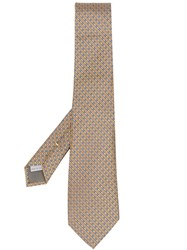 Canali Patterned Tie Yellow
