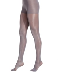 Berkshire Shimmer Opaque Control Top Hosiery Black