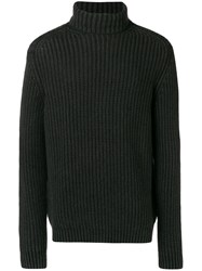 Iris Von Arnim Fisherman Knit Turtleneck Sweater Black