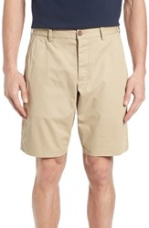 French Connection Men's Peach Pie Flat Front Shorts Sand