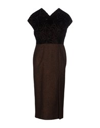 Aquilano Rimondi Knee Length Dresses Dark Brown
