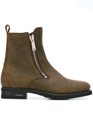 Dsquared2 Round Toe Chelsea Boots Brown