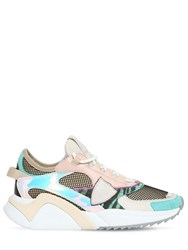 Philippe Model Eze Leather And Mesh Sneakers Multicolor