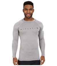 Rip Curl Dawn Patrol Uv Tee Long Sleeve Grey Men's Swimwear Gray