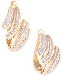 Wrapped In Love Diamond Wave Hoop Earrings 1 2 Ct. T.W. 10K Gold Yellow Gold