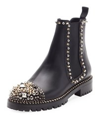Christian Louboutin Chasse A Clou Flat Chelsea Bootie Black