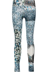 Maison Martin Margiela Mm6 Floral Print Stretch Jersey Leggings Multi