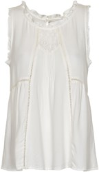 Soaked In Luxury Blouse With Frills White