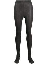 Brunello Cucinelli Ribbed Knit Tights Grey