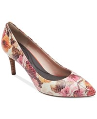 Rockport Women's Total Motion Pointed Toe Pumps Women's Shoes Pink Floral