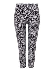 Tigi Crop Print Trousers Navy
