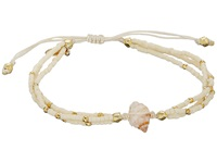 Chan Luu 6 1 3 Adjustable Seed Bead Single W Shell Charm Cream Bracelet Beige