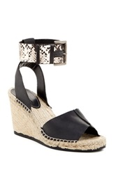 Charles David Ofilia Espadrille Wedge Sandal Black