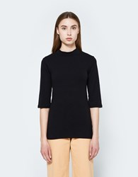 Just Female Pop Neck Blouse In Black