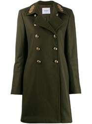 Dondup Military Style Coat Green
