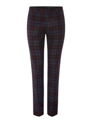 Label Lab Mojito Skinny Fit Checked Suit Trouser Blue