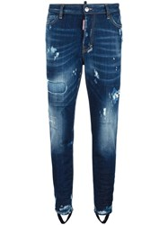 Dsquared2 Ski Gaiter Bleached Jeans Blue
