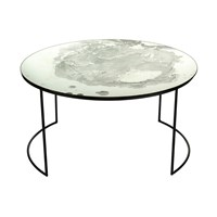 Amara Iridescent Glass Round Table Coffee Table