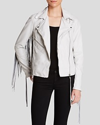 Blanknyc Jacket Bloomingdale's Exclusive Faux Leather Fringed Light Grey