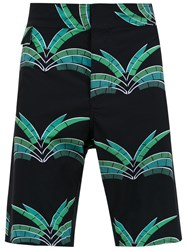 Amir Slama Printed Swim Shorts Black