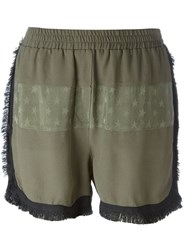8Pm Fringed Casual Shorts Green