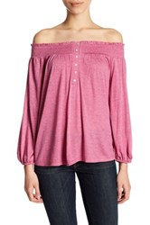Abound Off The Shoulder Long Sleeve Shirt Pink