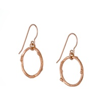 Chupi Hawthorn Twig Infinity Earrings Rose Gold