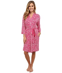 Jockey Printed Short Robe Paisley Twirl Women's Robe Red
