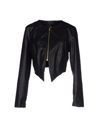 Miss Miss By Valentina Jackets Black