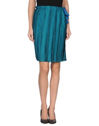 Weber Knee Length Skirts Green