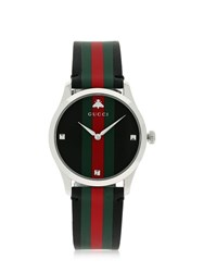 Gucci G Timeless Leather Watch Black Multi