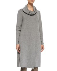 Lafayette 148 New York Long Cowl Neck Sweater Camel