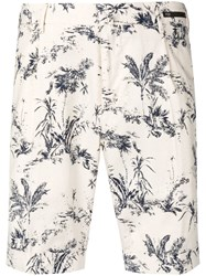 Pt01 Floral Fitted Shorts Neutrals
