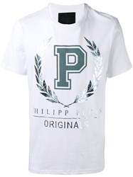 Philipp Plein Metallic Print T Shirt White
