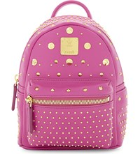 Mcm Stark Special X Mini Leather Backpack Electric Pink
