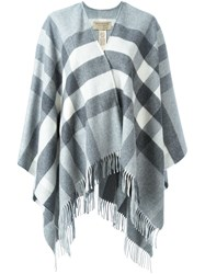 Burberry 'Colette' Check Scarf Grey