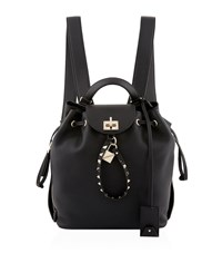 Valentino Garavani Twiny Leather Backpack Black