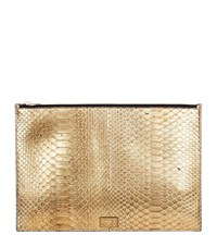 Tom Ford Large Python Pouch Gold