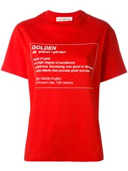 Golden Goose Deluxe Brand Printed T Shirt Women Cotton M Red